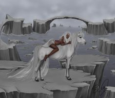 White horse by kina84