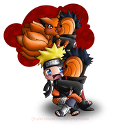 Naruto: Tobi n Kyuubi Cuddle by Urufei-Chopsticks