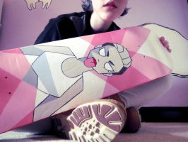 Miley Cyrus Skateboard by surrealtoons