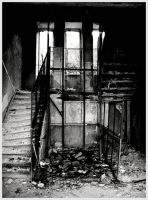 Old and rusty stairway by CubicSummer
