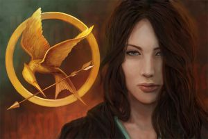 Katniss, The Hunger Games by NessaYavi