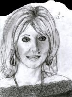 Caroline drawn at party by henkrygg