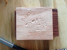 Wood carving T-Rex by piratedragon0402