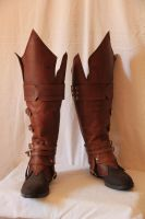 Leather boots (my personal version of Ezio boots) by HamraBDG