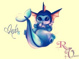 Adorable Little Vaporeon by KittRen