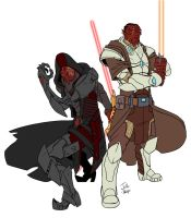 Commission - Jedi and Sith by GravedFish