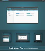 Dark Cyan Theme Windows 8.1 by cu88