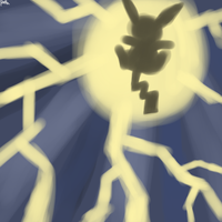 Pikachu used Thunderbolt by DigimonXevolution199
