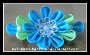Turquoise and Silver by Kurokami-Kanzashi