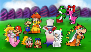 Paper mario couples by Goombarina