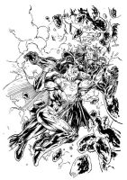 Jim Lee Superman - My Inks by cronevald