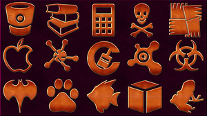 300 Leather Sozial Media Icons - Part 1 by llexandro