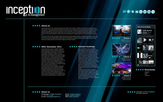 Inception Website Layout by vygo