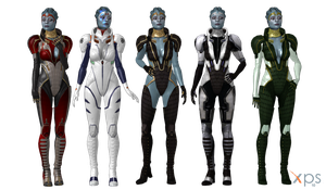 ME3 Samara Alt Outfits for XPS by Just-Jasper