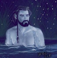 Thorin - Bath by Miruna-Lavinia
