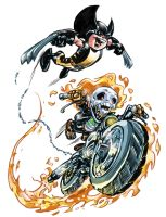 Ghost rider and wolfie baby by IwanNazif