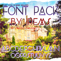 Font Pack by BlackAngelPNGs