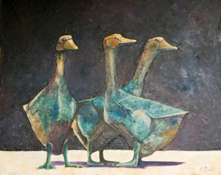 Sarlat Geese by pens-n-feathers