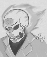 More Tablet sketches: Ghost Rider by bigsheezy