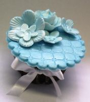 Cupcake - blue flower by anafuji