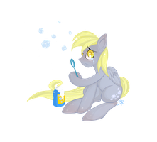 Derpy's Bubbles by FallenInTheDark