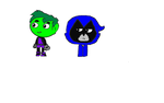 Best Beast Boy and Raven by thecommonchaos