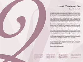 Type Study - AdobeGaramondPro by newklear