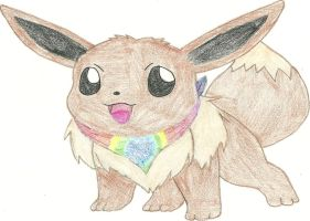 Request: Eevee with tie-dye by hellogoodbye1121