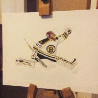 Tuukka Rask Glove Save by larrykins14