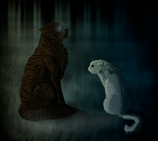 Hawkfrost and Ivypaw by Speck--Of--Dust