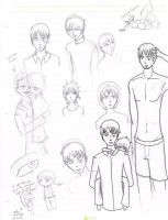 Jullian and Nicky Sketch dump of Woo! by Ezien