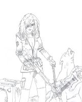 Sniper Wolf - Lineart by TheLandoBros