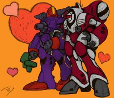 Zentradi Battle Suit Date V-Day Card by thedanimator