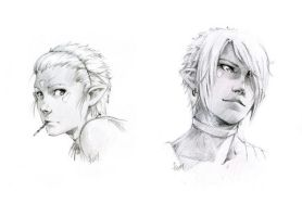 Red-portrait sketches by Sideburn004
