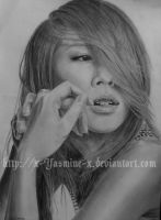 BoA's face by x-Yasmine-x