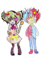 Candy Addict/Trickster Nepeta and Sollux by SGTCTOINFINITY