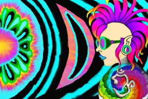 PsyTrance Rave Queen by TechBehr