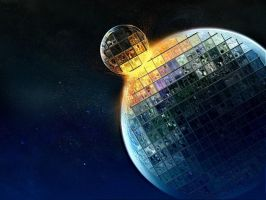 Collision of the Heavenly Disco Balls by InsidiouslyJake