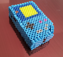 Blue Mini Gameboy Perler by Undertakoshi