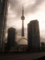 Cloudy CN Tower by Toby-Linn