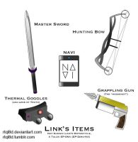 Link's Items by rtql8d