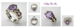 Merlinesque - Amethyst silver by nellyvansee