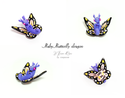 Baby Butterfly dragon (purple and pink) by rosepeonie
