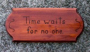 Time waits for no one. by Cyle