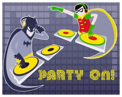 Party on! Batman! by Bisho-s