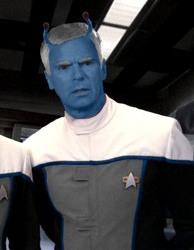 Richard Dean Anderson Andorian by FruitLoop30