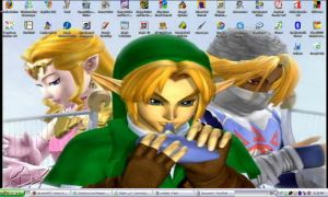 LoZ desktop by BlackLegSarah
