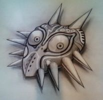 Majora's Mask In graphite by Sirius-Tattoo
