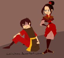 Azula and Zuko by lainchan