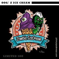 006/ ZOMBIE ICE CREAM TSHIRT by johnnyspadewear